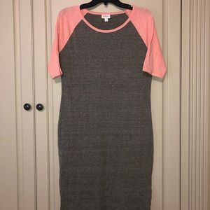 LuLaRoe Gray Julia Dress
